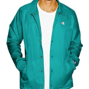 CHAMPION The West Breaker Coaches Jacket Teal NWOT